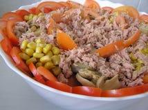 Mediterrane salade royalty-vrije stock afbeelding