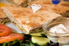 Mediterrane sandwich in Cyprus Royalty-vrije Stock Foto's