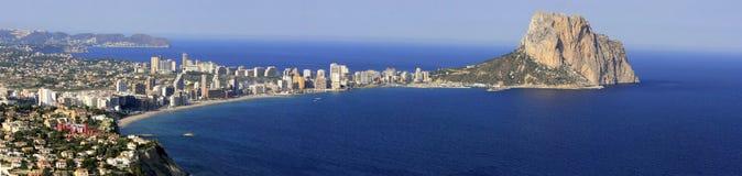 Mediterrane stad stock afbeeldingen