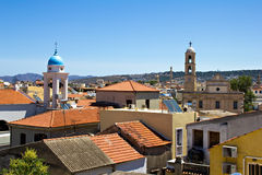 Mediterrane stad, Chania, Kreta royalty-vrije stock afbeeldingen