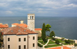 Mediterrane stad, Porec stock fotografie