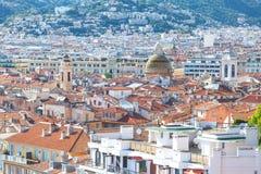 Mediterrane stijlhuizen en daken Royalty-vrije Stock Afbeelding