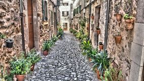Mediterrane straat Royalty-vrije Stock Fotografie