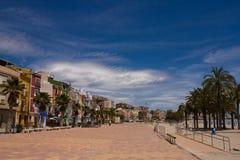 Mediterrane strandboulevard Stock Fotografie
