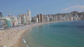 Mediterrane toevlucht Benidorm, Spanje Stock Afbeeldingen