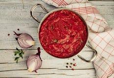 Mediterrane Tomatensaus royalty-vrije stock foto's
