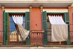 Mediterrane vensters Royalty-vrije Stock Fotografie