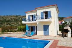 Mediterrane villa Royalty-vrije Stock Foto's