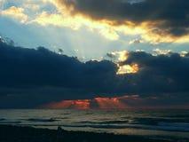 Mediterranea do por do sol Fotografia de Stock