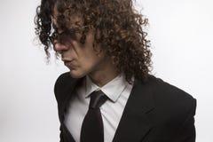 Mediterraneam mężczyzna w kostiumu Fotografia Stock