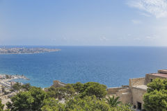Mediterraneam sea from the castle Royalty Free Stock Image