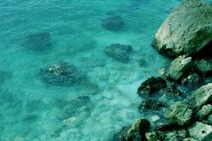 Mediterranean. Rocks and Sea, the Mediterranean Royalty Free Stock Photos