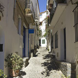 Mediterranean alley, Costa Brava, Spain Stock Photography