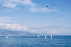 Mediterranean Antibes France. Antibes Juan les Pins, FRANCE Stock Images