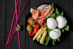 Mediterranean appetizer food Stock Image