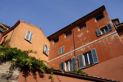 Mediterranean architecture. Colorful Mediterranean architecture of Bologna, Tuscany, Italy Stock Images