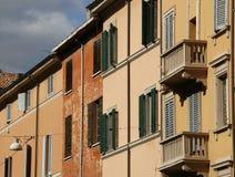 Mediterranean architecture. Colorful Mediterranean architecture of Bologna, Tuscany, Italy Stock Photo
