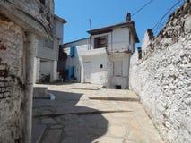 Mediterranean architecture in the Aegean Sea Stock Images