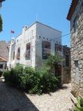 Mediterranean architecture in the Aegean Sea Stock Photo
