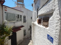 Mediterranean architecture in the Aegean Sea Stock Photos