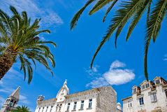Mediterranean architecture in city of Trogir, Croa Royalty Free Stock Photo