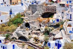 Mediterranean architecture in Santorini, Greece Royalty Free Stock Photography