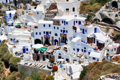 Mediterranean architecture in Santorini, Greece Royalty Free Stock Image