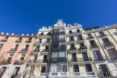 Mediterranean architecture in Spain. Old apartment building in M Stock Photo