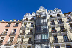 Mediterranean architecture in Spain. Old apartment building in M Royalty Free Stock Image