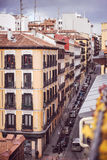 Mediterranean architecture in Spain. Old apartment buildings in Stock Images
