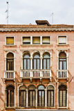 Mediterranean architecture of Venetian balconies Royalty Free Stock Photography