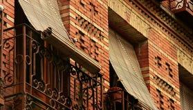 Mediterranean balconies Stock Photo