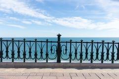 Mediterranean balcony to the sea Royalty Free Stock Photography