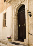 Mediterranean Baroque Door Royalty Free Stock Photography