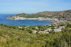 Mediterranean bay with Spanish village Costa Brava Royalty Free Stock Image