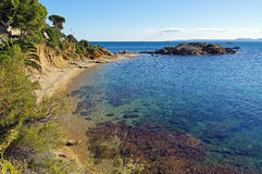 Mediterranean beach in Costa Brava Royalty Free Stock Photos