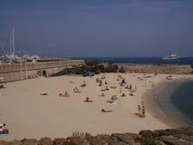 Mediterranean beach of Antibes Royalty Free Stock Photo
