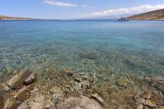 Mediterranean beach at Elounda. Crete. Grrece Stock Image