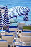Mediterranean beach during hot summer day Royalty Free Stock Photo