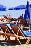 Mediterranean beach during hot summer day Stock Photo