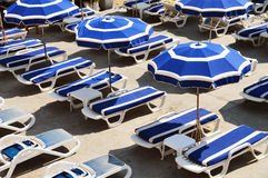Mediterranean beach during hot summer day Stock Images
