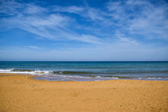 Mediterranean beach Royalty Free Stock Photography