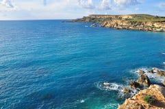 Mediterranean beach, Malta Royalty Free Stock Images