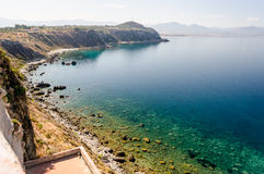 Mediterranean Beach in Milazzo, Sicily Stock Photos