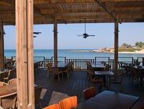 Mediterranean beach restaurant Stock Image