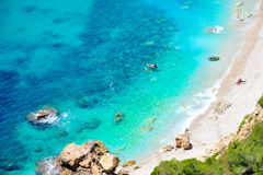 Mediterranean beach in summer Royalty Free Stock Images