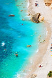 Mediterranean beach in summer Stock Photo