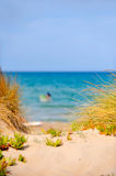 Mediterranean beach in summer Royalty Free Stock Image