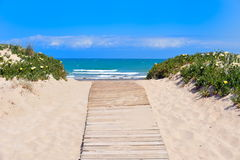 Mediterranean beach in summertime Stock Images