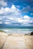 Mediterranean beach. At Valencia coast, with dunes Royalty Free Stock Photography